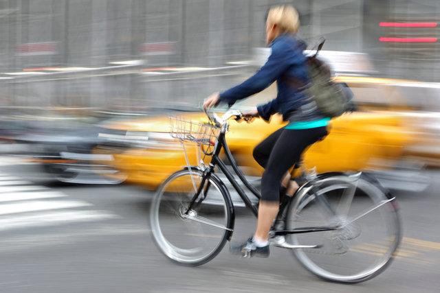 骑自行车的快乐的感受